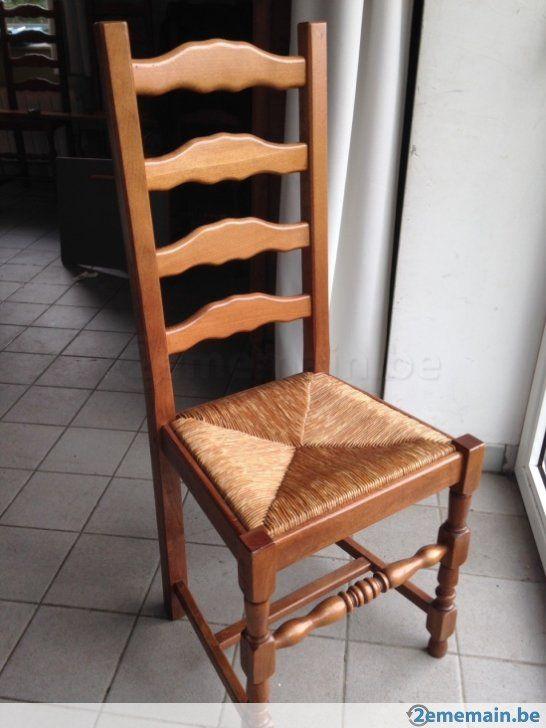 12 chaises de salle manger avec assise en paille tress e a vendre chais - Chaise en cuir a vendre ...