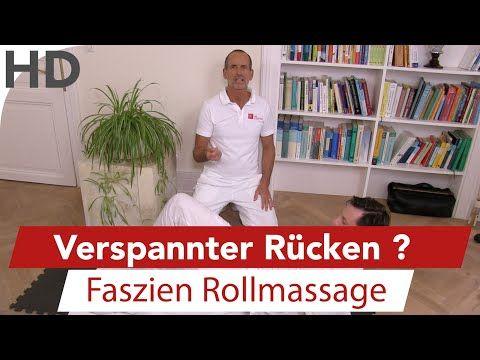 Faszien Training und Übungen bei Rückenschmerzen / Mit der LNB Faszienrolle - YouTube