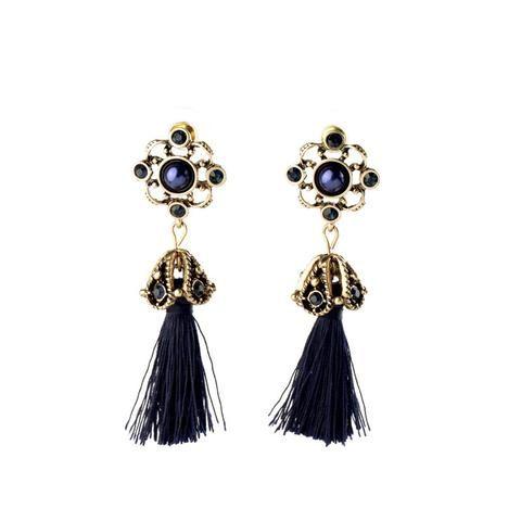 Retro Style Tassel Drop Earrings