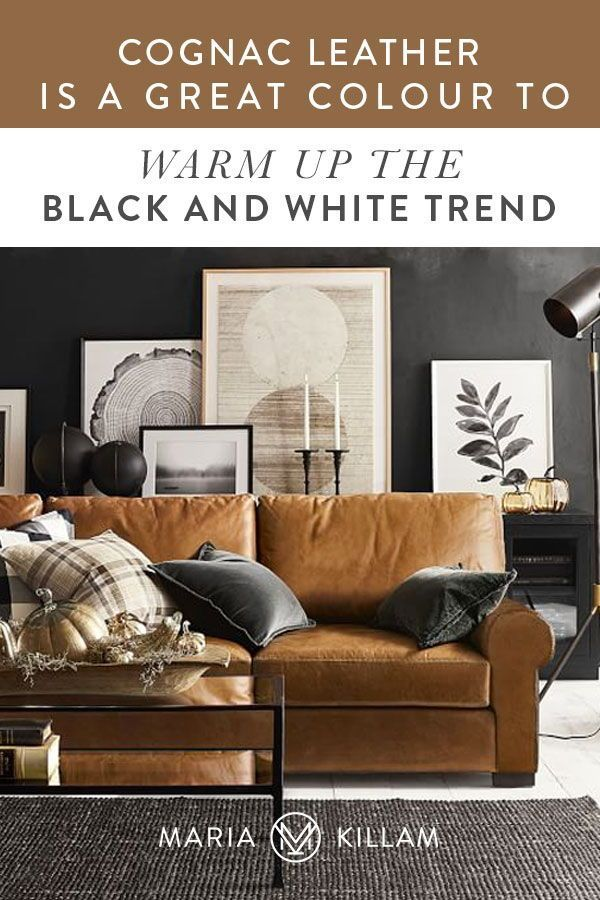 Is A Cognac Leather Sofa Timeless Or Trendy Yay Or Nay In 2021 Grey And Brown Living Room Black Living Room Black And White Living Room What color is cognac leather