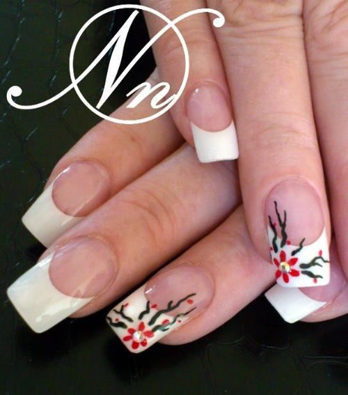 lovely flowers and french mani