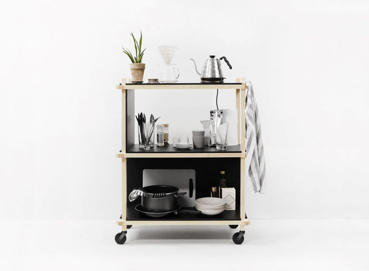 Knot Shelf / Used as a kitchen trolley #mwa #makerswithagendas #mwadesign #agendadrivendesign #mwagram #nomadicliving #minimallogistics