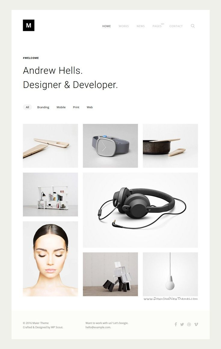 Maier is a #minimal and modernistic #portfolio #WordPress theme #webdesign which focuses on your work and overall website aesthetics in a beautiful way download now➩ https://themeforest.net/item/maier-portfolio-for-freelancers-agencies/17811608?ref=Datasata
