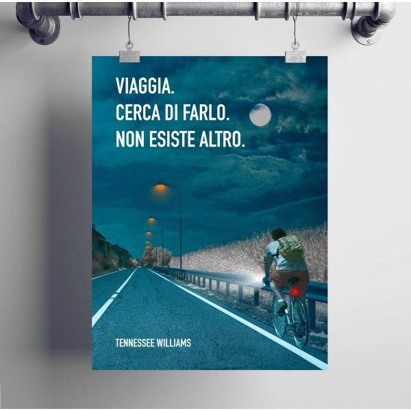 Poster motivazionale per chi ama viaggiare.