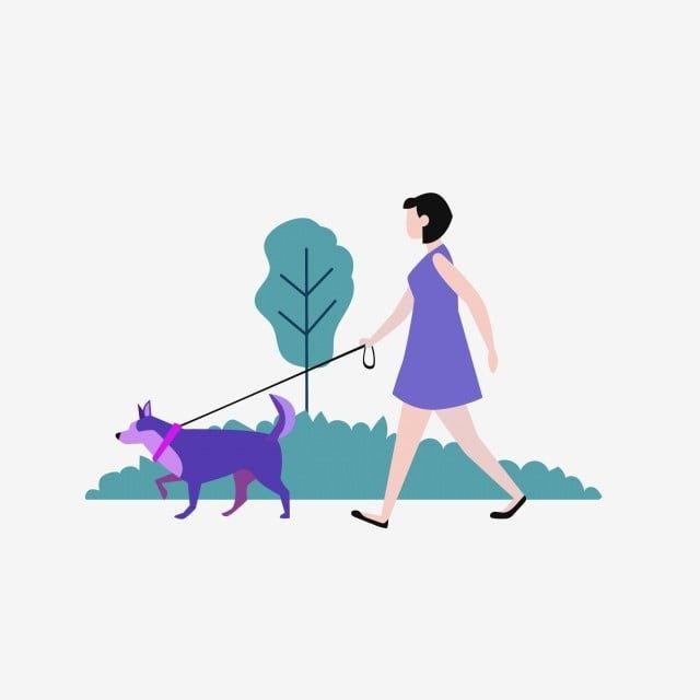 Walk Dogs In The Park Cartoon The Dog Walk The Dog Png And Vector With Transparent Background For Free Download Dog Vector Dog Illustration Dog Walking