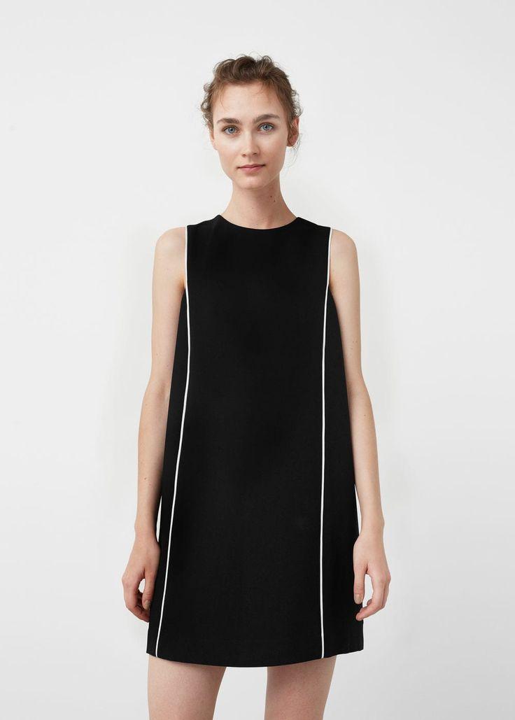 Vestido ribetes contraste | MNG