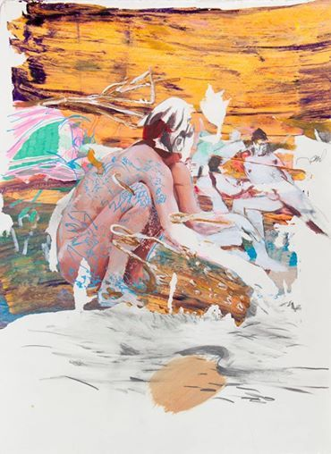 Sneak peek_13 Giuseppe Gonella, Mente locale #01 2014, Acryl und Marker auf Papier Acrylic and marker on paper, 37,5 x 28 cm