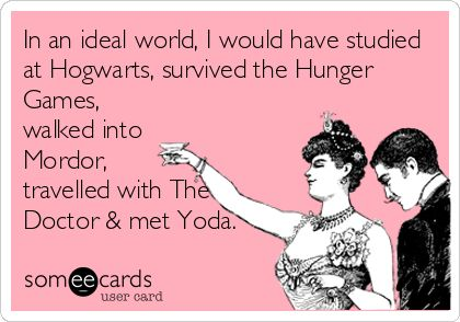 Live your dreams at the library! (Because we really don't think you'd enjoy living through the *actual* Hunger Games...)
