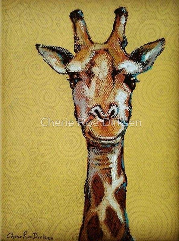 Giraffe Face by Cherie Roe Dirksen (greeting cards) #giraffe #art