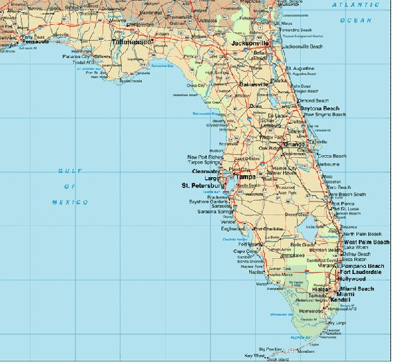map of east coast florida with towns listed - yahoo search