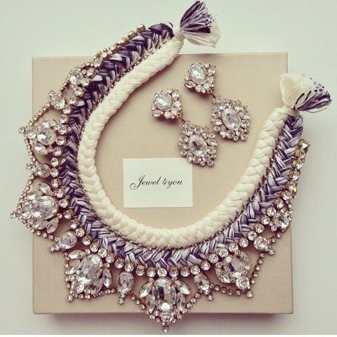 Statement necklace and Statement earrings... I wouldn't use them together but, they're both beautiful