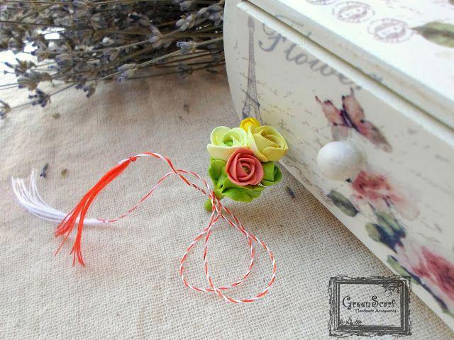 ranunculus polymer clay bouquet
