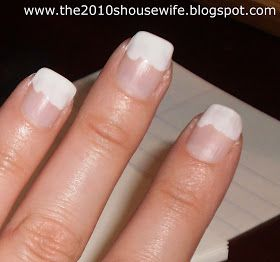 Cute french mani how to.