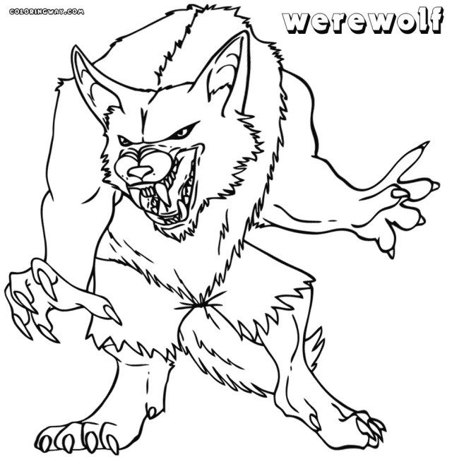 Marvelous Photo Of Werewolf Coloring Pages Albanysinsanity Com Coloring Pages Halloween Coloring Pages Cat Coloring Page