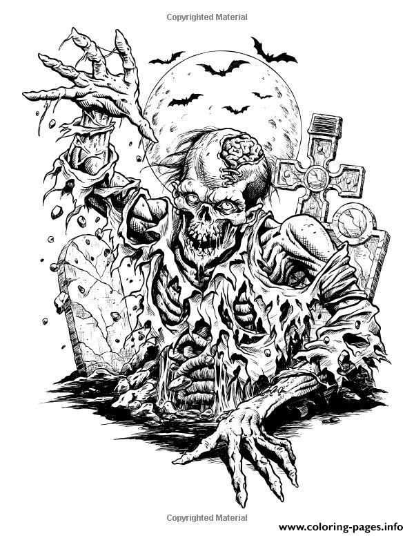 Print Adult Halloween Complex Coloring Pages