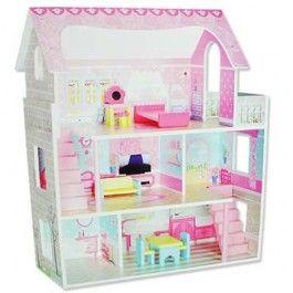 Mentari poppenhuis roze groot. Op het dakterras mooi uitzicht op de zee.