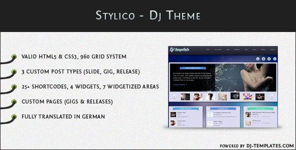 Stylico - WordPress Dj Theme