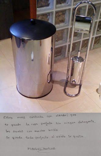 Y en esta foto, los mismos accesorios metálicos del baño después de lavarlos con agua tratada del #LaundryPro, te lo cuenta Mª Dolores. (fotos #Almería  #testimonios )