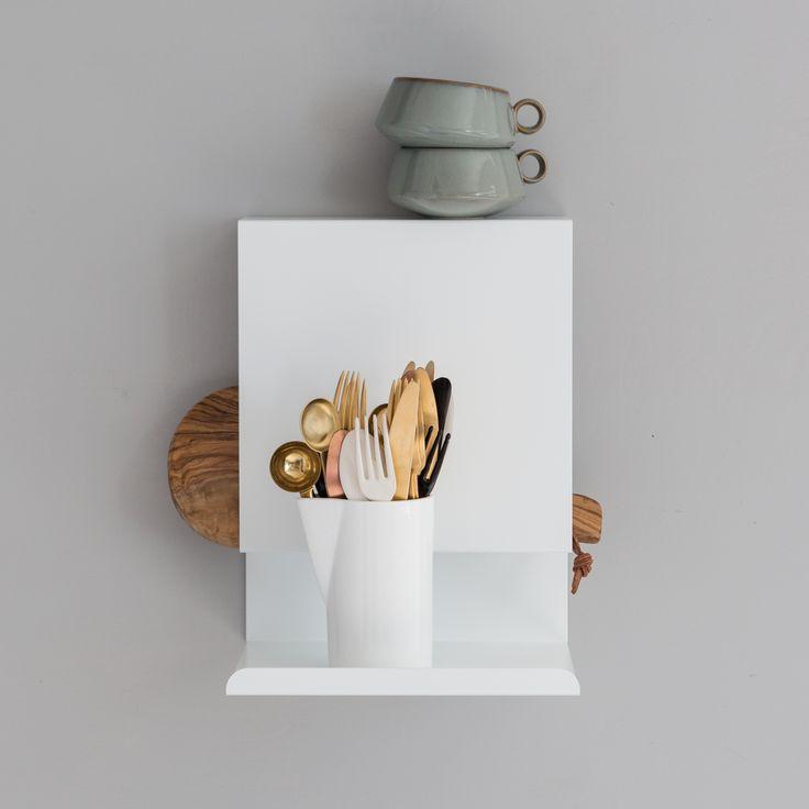White Ledge:able shelf for the kitchen