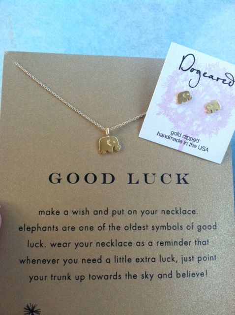 good luck elephant necklace.