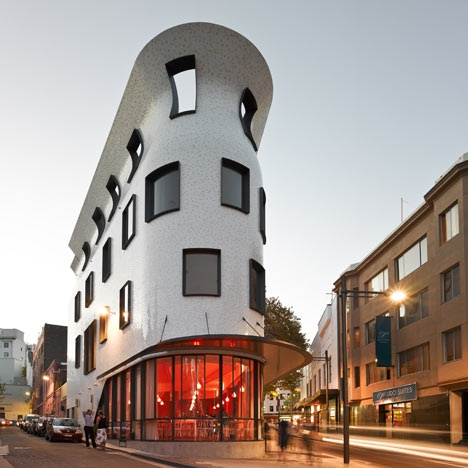 "The venue is the award winning Durbach Block ""Barcelona"" building  at  Potts Point! Inspiring! #venue #architecture"