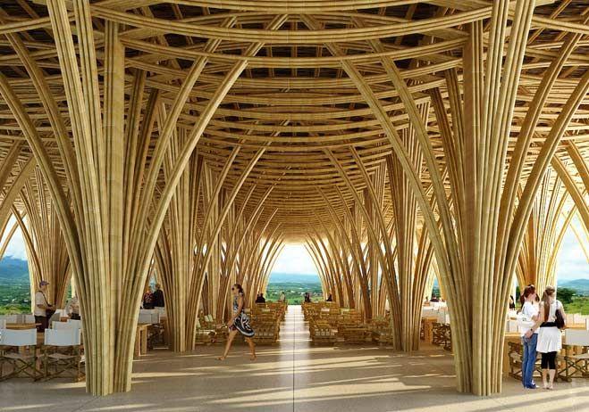 Las construcciones con bambú ganan terreno en México - arquitectura - obrasweb.com