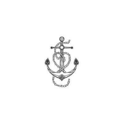 Vintage Anchor Heart Temporary Tattoo (Set of 2)