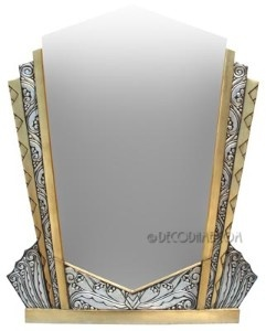 French Art Deco Decorative Wall Mirror Circa 1920's, France