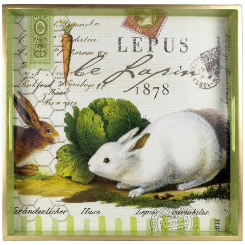 Bunnies Square Tray