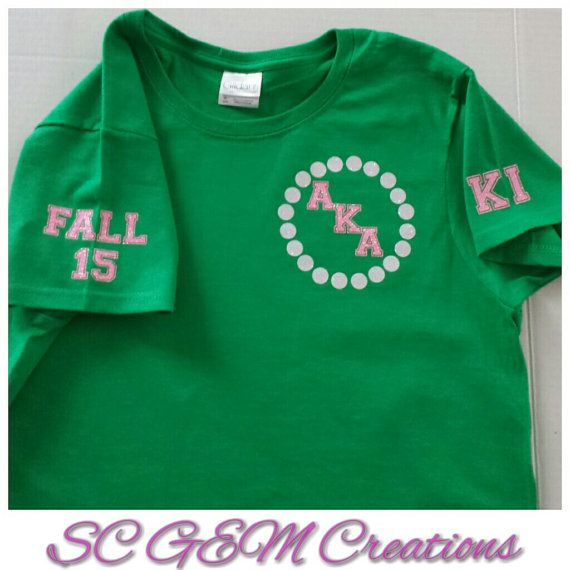 Special Listing: AKA Personalized Shirt Front by SCGEMCreations