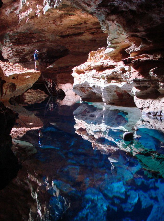 Poço Azul in Chapada Diamantina National Park, Brazil (by ...