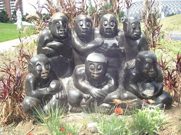 The Chapungu Sculpture Park displays the work of Zimbabwean stone sculptors.