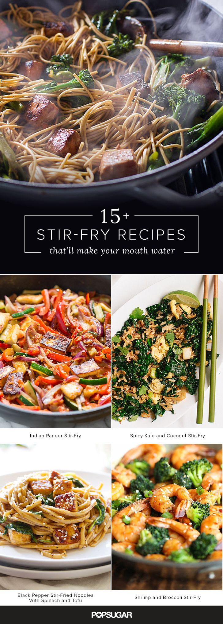Not only are stir-frys speedy dishes to prepare, but they're also a great choice as the technique itself is quite flexible and a great way to use up the bits and bobs of produce and proteins stashed in your fridge. Check out these 19 recipes for inspiration, cook from them in order to master this essential technique, and then get to making stir-fry creations of your own.