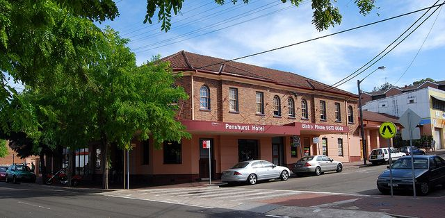Penshurst Hotel is often called the Penzi by locals.There's a sports bar or your can relax in the beer garden. Function & party rooms are available. For a good feed there is top quality value for money pub meals from the bistro. #penshurst #pub #mcgrathstgeorge (Penshurst Hotel, Penshurst, Sydney, NSW by dunedoo, via Flickr)