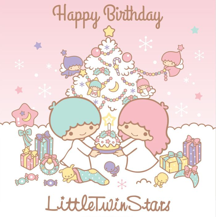 Happy birthday to kiki and lala on 12 24from little twin stars more