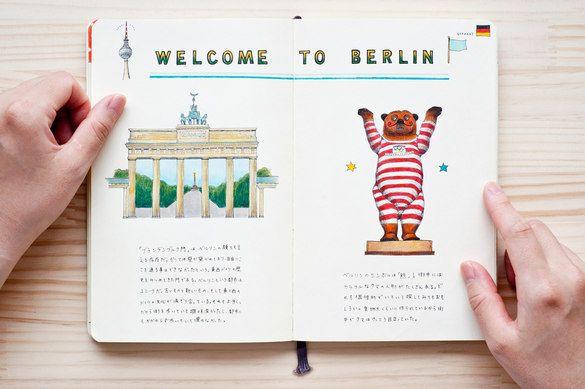 Caderno de viagem da artista japonesa Kondo Yoshie.    Em: Berlim, Alemanha http://yoshiekondo.com/yoshie_kondo.html