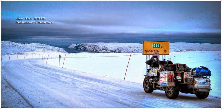 Nordkapp Norway. Jan 1st, 2013.