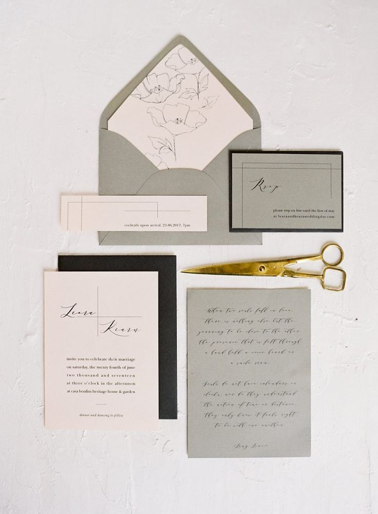 example of wedding invitation email%0A A really attractive combination of the palest of pinks and lightest of  grays in these wedding