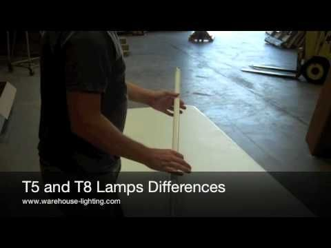 The Difference Between T5 Light Bulbs and T8 Light Bulbs - YouTube