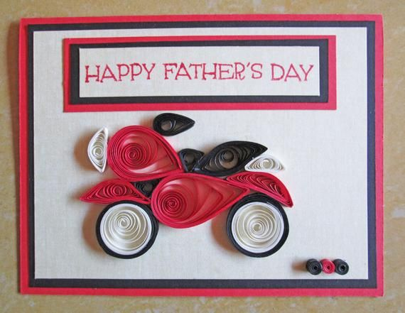 Paper Quilling/ Father's Day Card/ Quilled Fathers Day Card/ Masculine Card/…