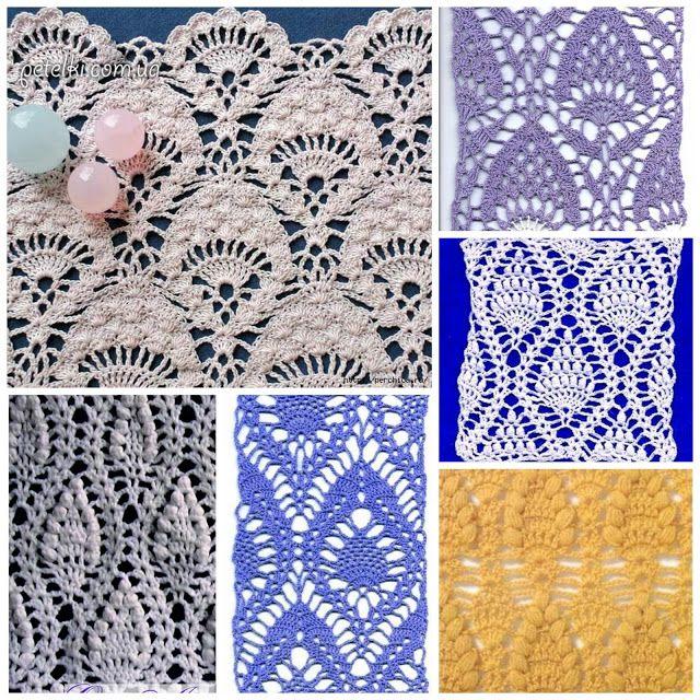 ergahandmade: Crochet PineApple Stitches + Diagrams