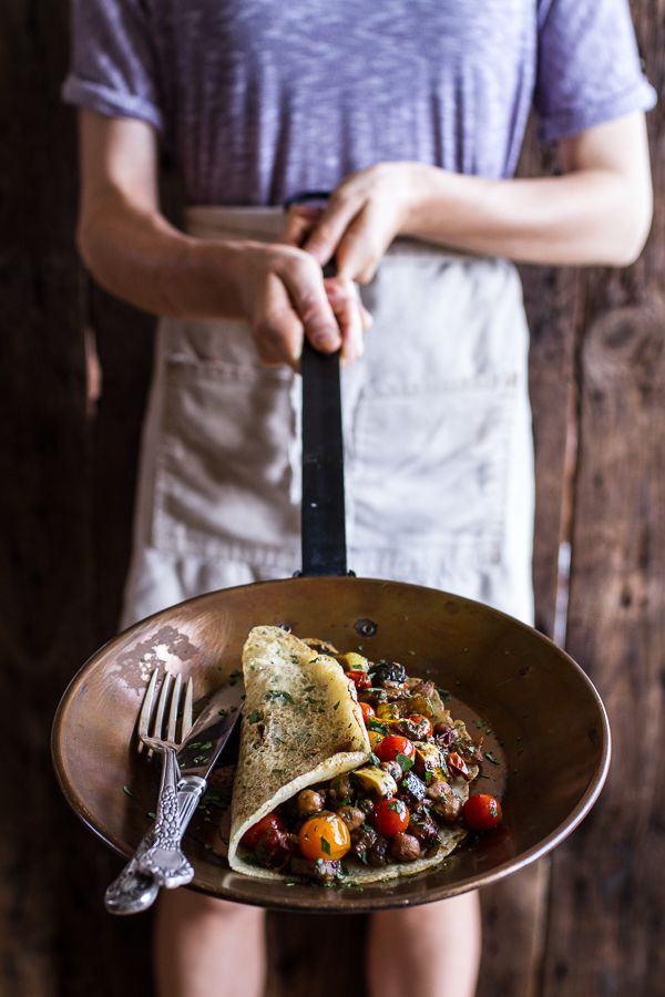 Rava Dosa (Indian Crepes) with Summer Squash + Tomato Chickpea Masala | halfbakedharvest.com @hbharvest