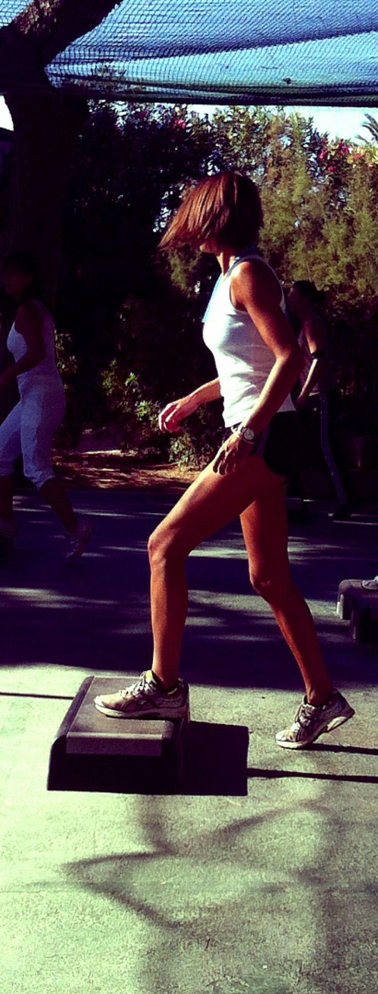 Step aerobics #Aerobics #Fitness #Step