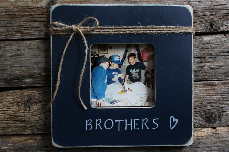 Brothers Picture Frame, Favorite Brother Frame, Navy Picture Frame, Rustic Picture Frame by MyRusticPlace on Etsy