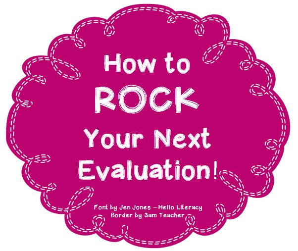 Struggling with being evaluated? Not anymore! Read this post for some great tips!