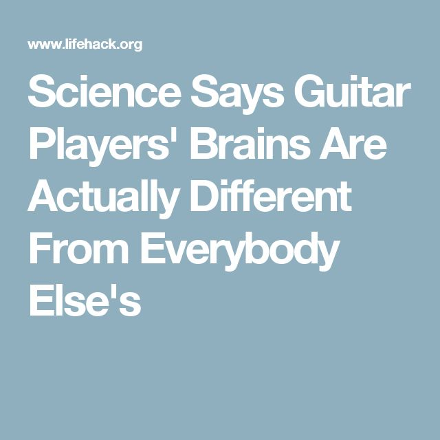 Science Says Guitar Players' Brains Are Actually Different From Everybody Else's