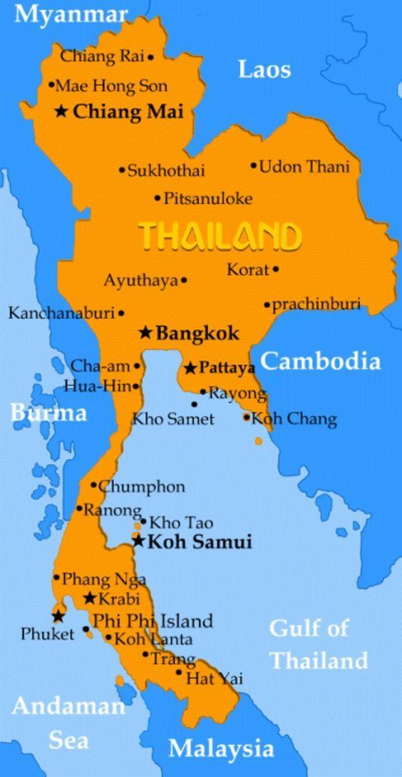 Asien Länder Karte.Eine Reise Nach Thailand Unternehmen Und Das Paradies Entdecken