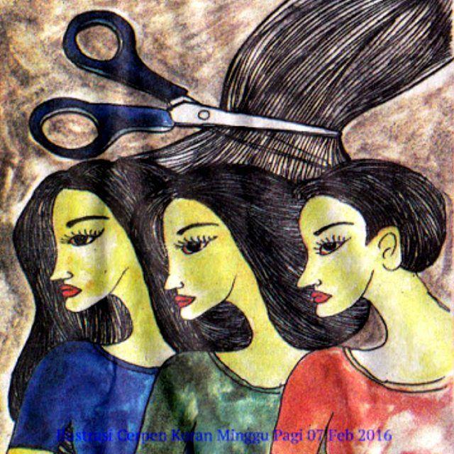 "Dian Marfuah bercerita tentang ""Gadis yang Selalu Memotong Rambutnya,"" dalam sebuah"