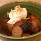 The BEST Beef Stew ever.  I always use at least one can of Guiness...and add rutabega (because we love them) and replace the celery root with celery.  Its okay to use less expensive cuts of meat, but best with the brisket.