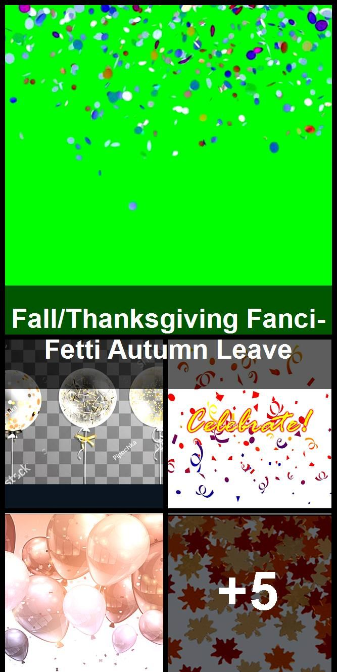 Fall Thanksgiving Fanci Fetti Autumn Leave Fall Thanksgiving Celebration Background Confetti Balloons